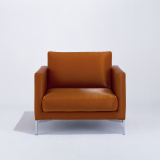 KnollStudio brown leather Divina Standard Lounge Chair