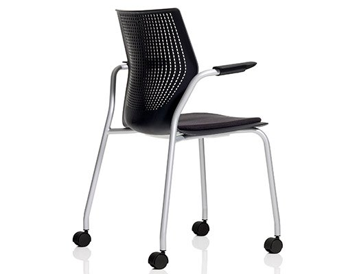 Charmant ... MultiGeneration By Knoll Black Stacking Chair ...