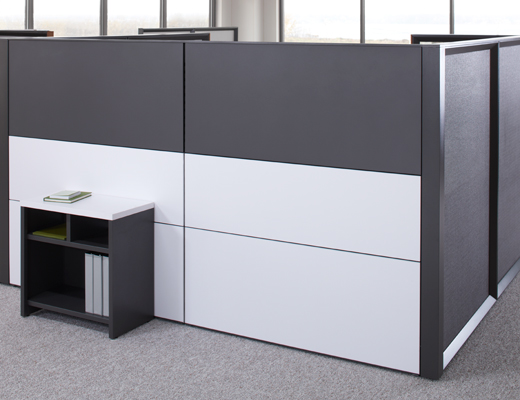 Dividends Horizon steel and laminate workstation tiles