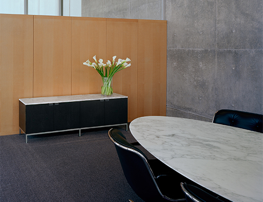 Florence Knoll Credenza and Table at MoMA Fort Worth