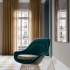 Oh La La and Arrondissement Chair Grand Boulevard Wallcovering Lorelei Drapery