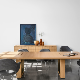 DatesWeiser highline fifty table and credenza saarinen executive arm chair