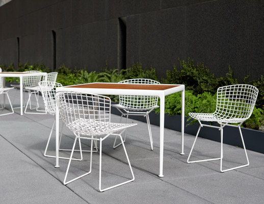 Bertoia Side Chair Richard Schultz 1966 Dining Barstool 1966 Dining Table outdoor community shared spaces