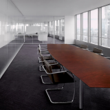 Florence Knoll Conference Table, Tubular Brno Chair