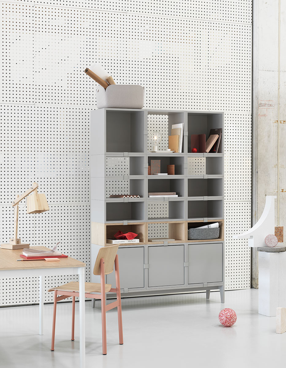 Muuto Stacked Storage with Loft Chair & Base Table