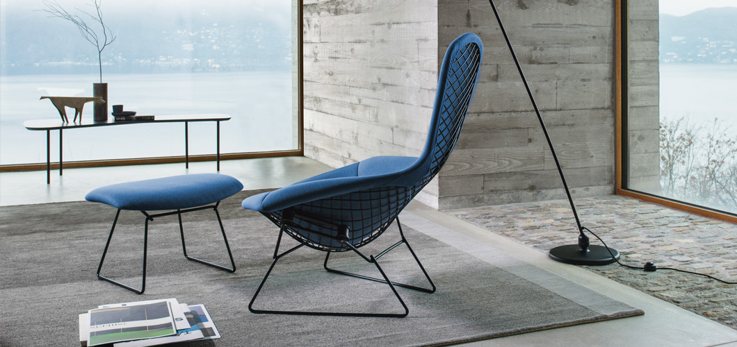 Bertoia Bird Chair and Girard Coffee Table