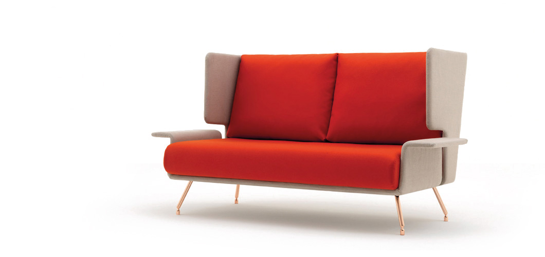 Architecture associ s residential sofa and ottoman knoll for Knoll and associates