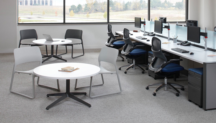 Dividends Horizon® Low Table and Spark® Series Lounge Chair