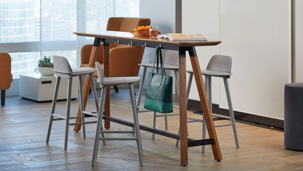 Knoll Shared Spaces Enclave Rockwell Unscripted Tall Table Muuto
