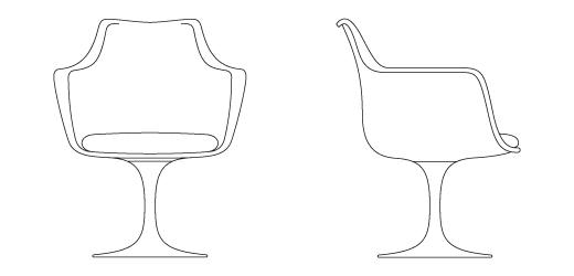 Tulip Arm Chair Knoll