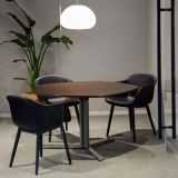 knoll design days 2019 breakout space meeting space islands collection table muuto fiber armchair