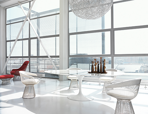 Knoll Warren Platner Wire Dining Collection