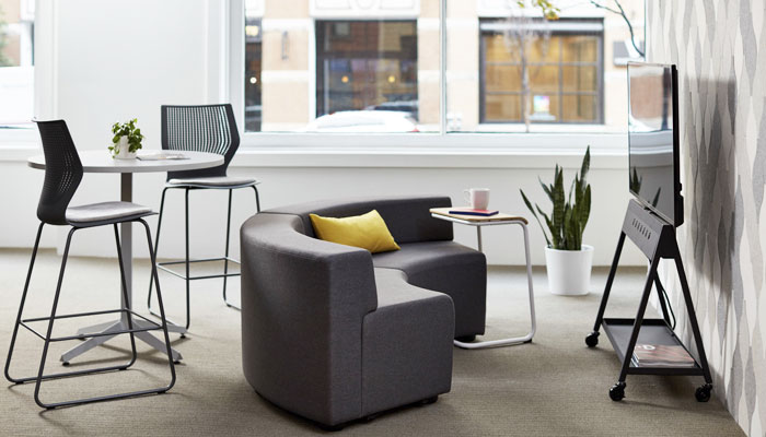 k.™ lounge, Horsepower®, Dividends Horizon® Table and MultiGeneration by Knoll® Stools