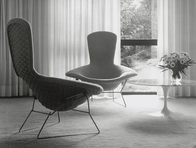 ... Knoll Harry Bertoia Wire Lounge Chair History ...