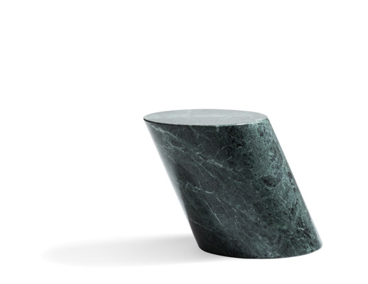 Verde Alpi Marble side table