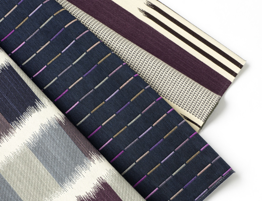KnollTextiles Ikat Stripe Origins and Ikat Square upholstery by Dorothy Cosonas