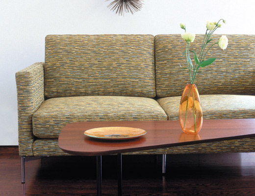Divina Settee in Topography KnollTextiles upholstery