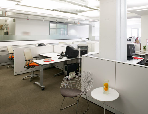 Currents Table with Reff Panels HOK Open Plan Office