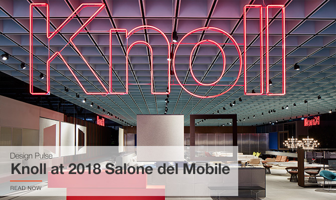 Knoll at 2018 Salone del Mobile