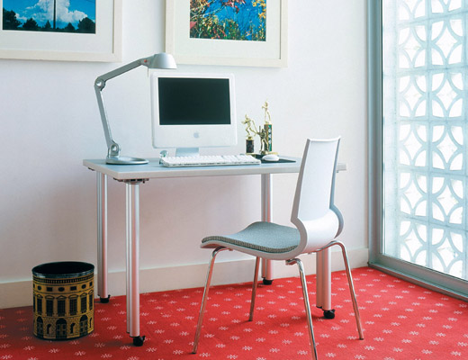 Propeller Training Table and Gigi Side Chair home office