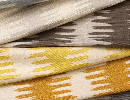 The Hallmark Collection KnollTextiles Cleo Beetle Llama Gazelle Butterfly Fox Wasp Ikat-like stripe warm/neutral Upholstery Polyester Viscose Post Consumer Recycled Cotton Post Consumer Recycled Acrylic