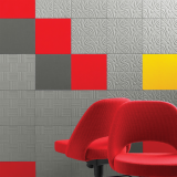 Impressions Acoustic Solution Tiles Panel Grey Yellow Red Cato Office Saarinen Executive Arm Chair