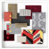 knoll textiles the shape of things collection color collage imprint cozy up block party