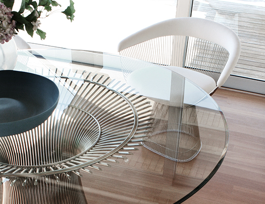c58bef8ca0d5 ... Knoll Warren Platner Wire Dining Table and Dining Chair ...