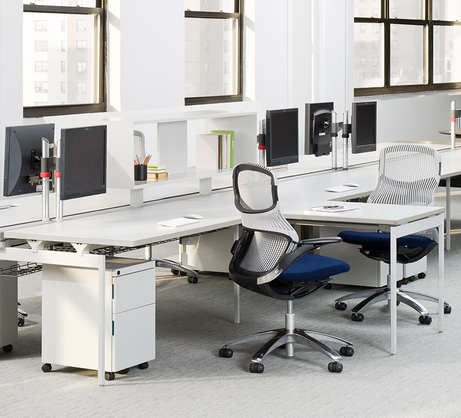 Antenna Workspaces with Generation by Knoll Task Seating Storage Sapper Single Monitor