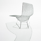 KnollStudio Harry Bertoia Wire Asymetric Chaise Lounge Chair Rear View