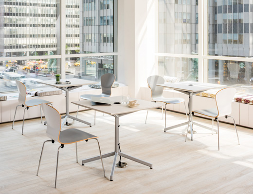 Sprite Chairs Pixel Column Leg Table training table