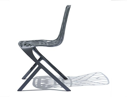 Washington Skeleton Chair in grey aluminum