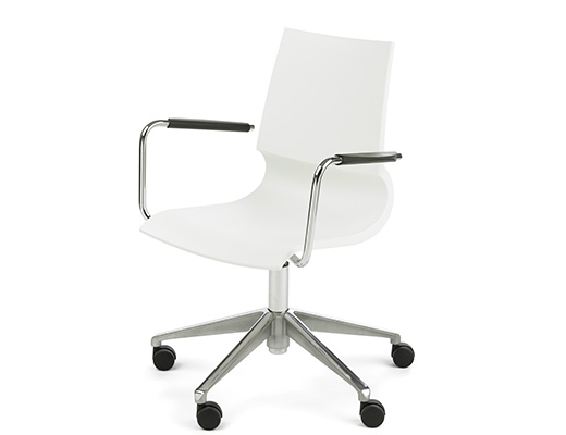Gigi Swivel Chair in white finish
