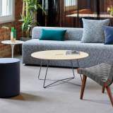 rockwell unscripted coffee table k. lounge modular seating rockwell unscripted ottoman muuto tube base Risom Lounge Chair Saarinen Side Table leaf floor lamp around coffee table essentials welcoming community