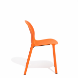 Orange Olivares Aluminum Chair side view