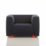 Barber Osgerby Armchair Lounge Collection Edward Barber & Jay Osgerby red feet