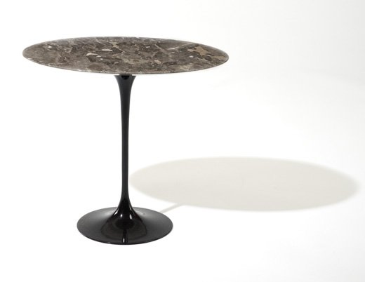Saarinen Side Table Eero Saarinen Black Base Grey Marble