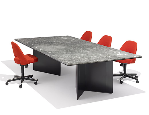 LSM Conference Table Series VBase Knoll - Gray conference table