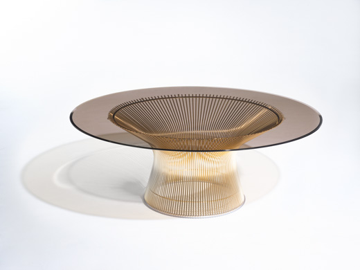 Warren Platner Gold coffee table 50th anniversary