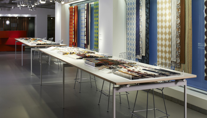 The KnollTextiles showroom display