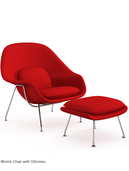 Womb Chair with Ottoman