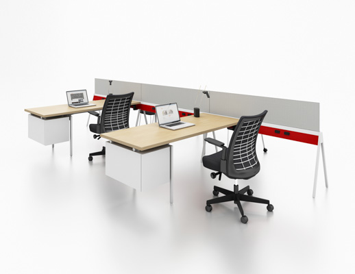 benching flexible workstation neocon 2015