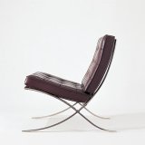 Knoll brown leather Mies Barcelona Chair
