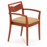 JR Side Chair upholstered seat wooden guest seating