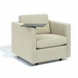 Petite Pfister Lounge Chair optional tablet arm