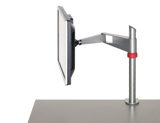 Standard Silver Single Monitor Arm Table Clamp Kit (Made in USA TAA Compliant Arm)