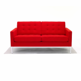 Florence Knoll Settee in KnollTextiles Cato red