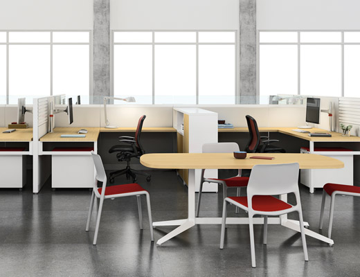Knoll White Dividends Horizon Open Meeting Space