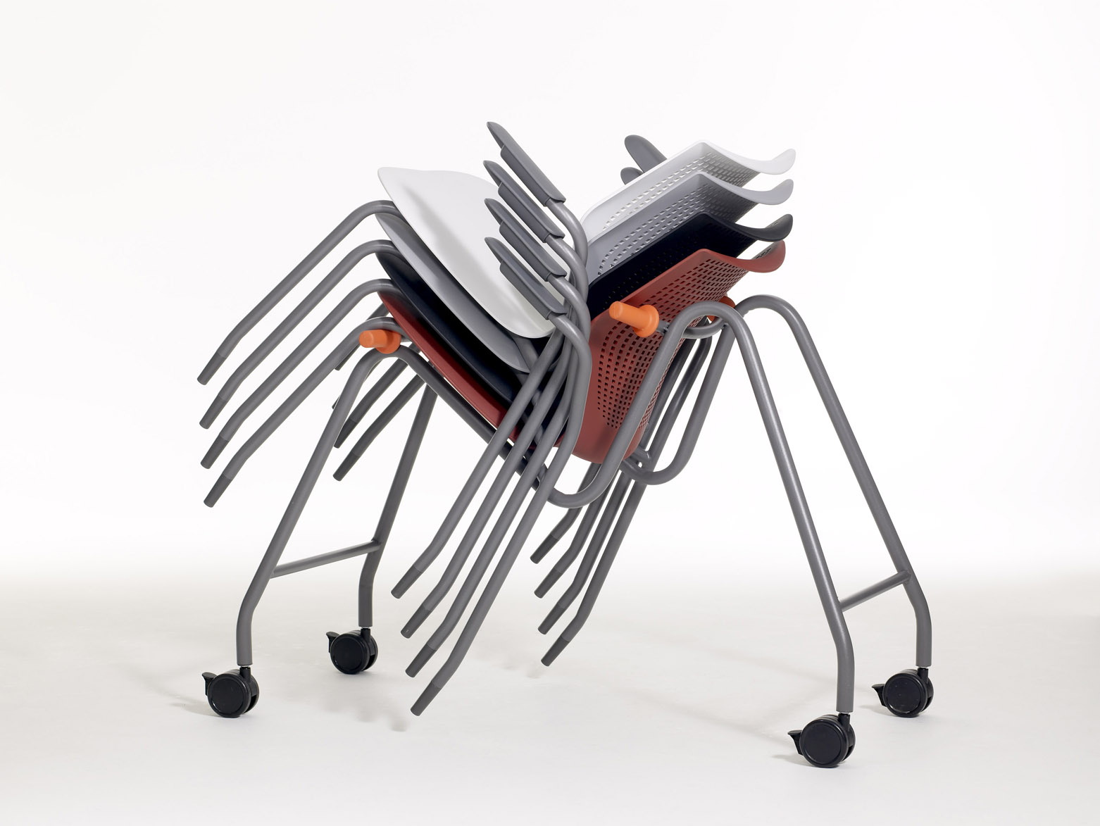 Multigeneration By Knoll 174 Stacking Base Ergonomic Side Chair