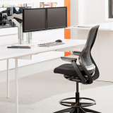 Antenna Desk with Ergonomic Support Dual Sapper XYZ and ReGeneration Chair Dual Monitor Antenna Workspaces